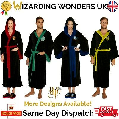 Official Harry Potter Dressing Gown Bath Robe Mens Womens Gryffindor Gift