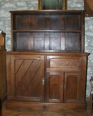 Antique Arts & Crafts DRESSER sideboard bookcase cupboard Oak & Mahogany Church