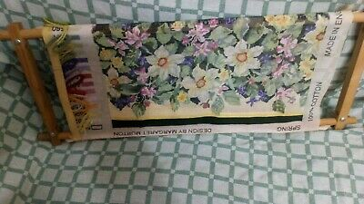 Ehrman tapestry kit, Spring Design By, Margaret Murton 1993 Includes Wood Frame