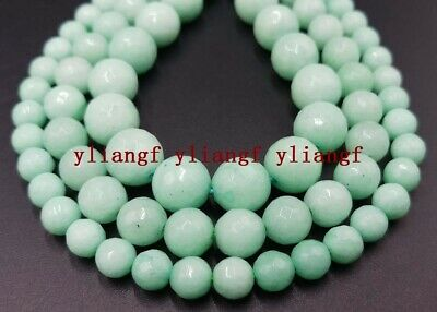 Natural 6/8/10mm Green Amazonite Gemstone Faceted Round Loose Beads 15'' AAA+
