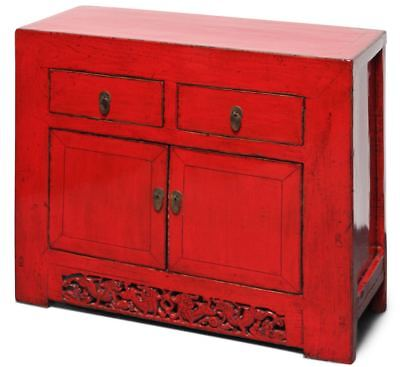 China Kommode in Rot aus Ulmenholz (108 cm) Asiatisches Sideboard AsienLifeStyle