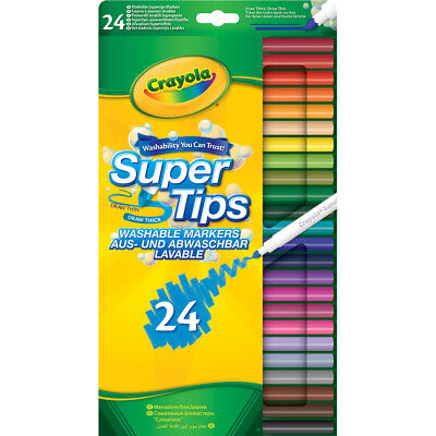 Crayola Super Tips Washable Coloured Markers Pack of 24