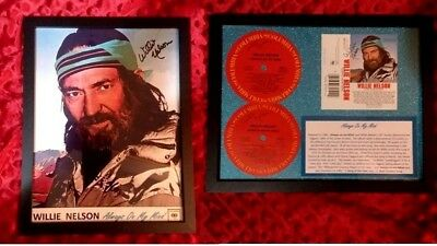 Willie Nelson  Always On My Mind  HAND-SIGNED  PHOTO - LP LABELS  CASSETTE INSRT