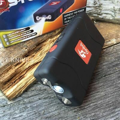 BLACK Cheetah 2.5 Million Volt Stun Gun Rechargeable w/LED light SELF DEFENSE