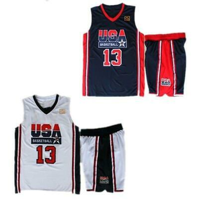 2081b8bcf2f0 1992 USA Dream Team Men s 13 Chris Mullin Basketball Jersey Navy Blue White  Stit