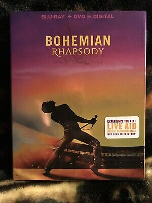 Bohemian Rhapsody (Blu-Ray + Digital)  w/Slipcover  *** No DVD Included ***