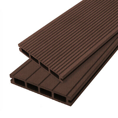 Premium Composite WPC Plastic Decking Boards Joists Trims  Fixings Clips Brown
