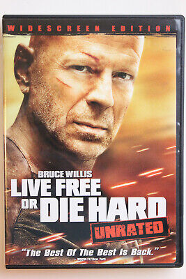 Live Free or Die Hard (DVD, 2007, Unrated Widescreen) Bruce Willis
