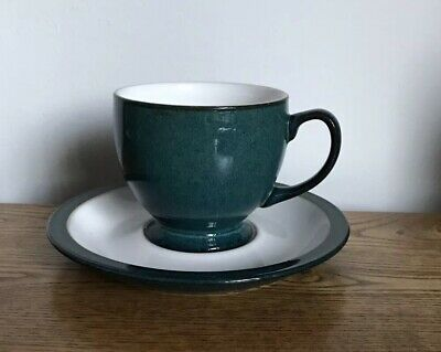Denby Greenwich Tea Cups & Saucer. X8 Available. I Per Sale.