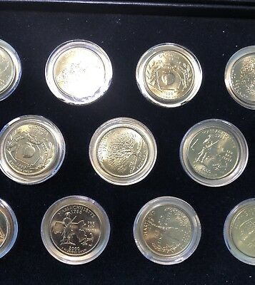 3 Random 1999 / 2000 (24k?) Gold Plated State Quarters ~ Great Collectibles!