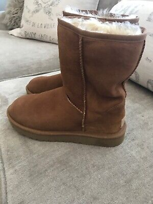 228ed5dbe04 UGG CLASSIC SHORT II Chestnut 1016223 Suede Fur Boots Womens Size 7