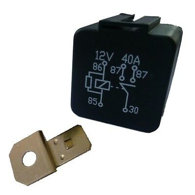 12V Twin Contact Twin Output 'Normally Open' 5 pin STANDARD Relay 40A (2 x 20A)