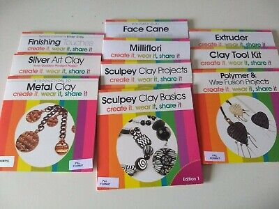Boxed set of 10 Jewellerymaker metal & polymer clay DVDs