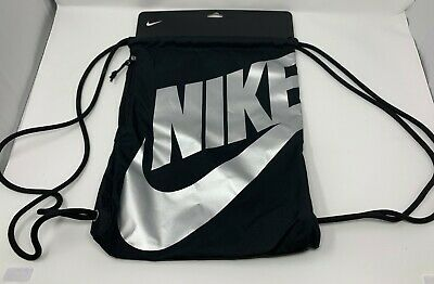 44167438c7 NIKE HERITAGE DRAWSTRING Bag Gymsack - Black Metallic