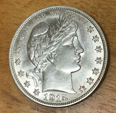 1915-S Barber Half Dollar - Choice Brilliant Uncirculated - Beautiful Coin!
