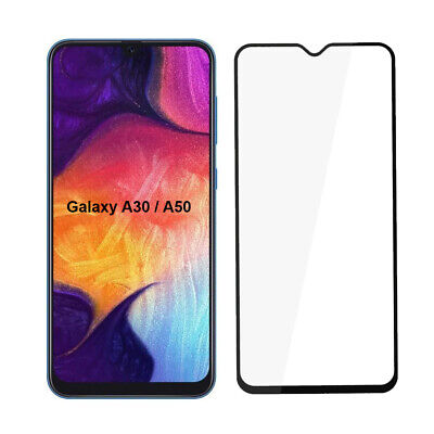 Samsung Galaxy A30 A50 Schutzglas Panzerfolie Display Schutz Folie Full Cover 9H