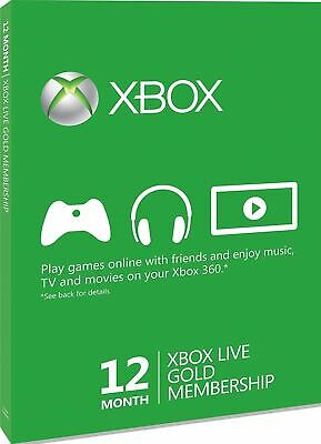 Xbox Live Gold 12-Month Membership Card Xbox One