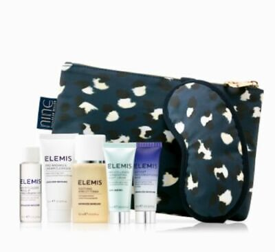 Elemis 5pc anti-aging collection gift set +Savannah Miller pouch and mask NEW