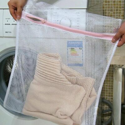 2 x Zipped Laundry Bags Mesh Net Bra Socks Underwear Washing Machine Bag UK