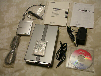 Sony MDS-PC3 Mini Disc Deck - Player / Recorder With PC Interface - Complete
