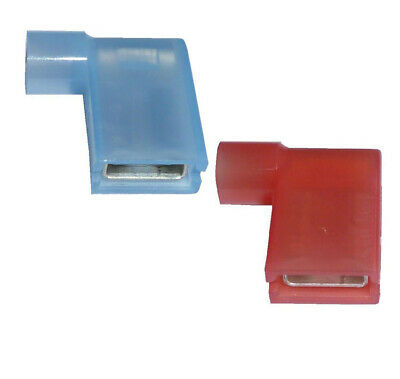 RED & BLUE 6.3mm Fully Insulated FLAG Terminals