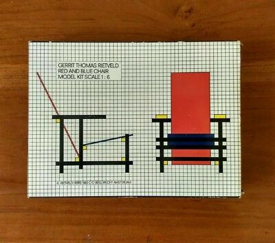 Red And Blue Chair 1:6 Scale Model Rietveld
