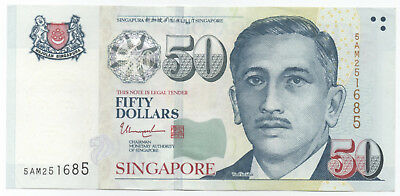 SINGAPORE $50 Portrait Series XF Condition Great Investment!