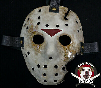 """Friday the 13th Part 7 (VII) v.2  """"Film Accurate"""" Hand painted Jason Hockey Mask"""