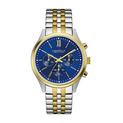 Caravelle New York Men's Quartz Two-Tone Band 41mm Watch 45A131