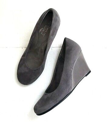 Aerosoles Ladies Gray Suede Leather Lace-up Non-slip Comfort Shoes-6m-worn Once Shapewear