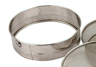 """12"""" Commercial Catering Tamis Sieve Frame +3 Mesh Stainless Steel Flour Sifter"""