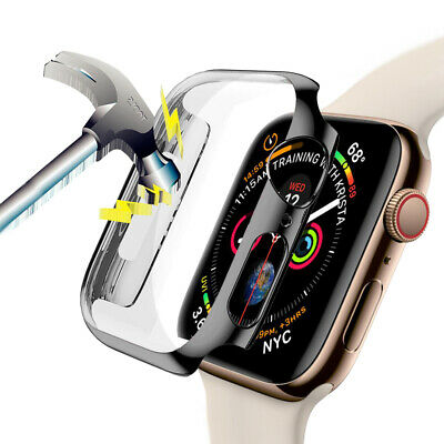 For Apple Watch Series 4 44mm Full Body Cover Snap-on Case with Screen Protector