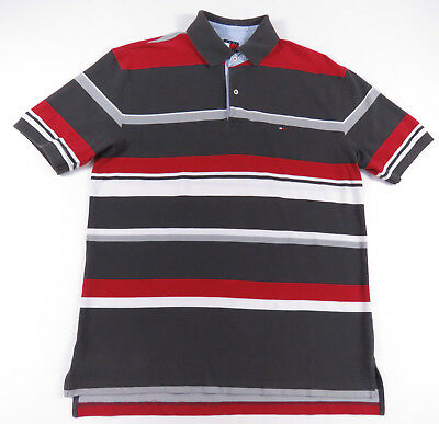 Clothing Women's Clothing Vintaege 90s Mens Tommy Hilfiger Striped Collared  Polos Shirt Tops & Tees Clothing