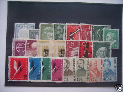 ALEMANIA / GERMANY BUND - COMPLETE YEAR 1955, MNH (88% DISCOUNT Cat.)