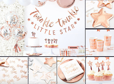 Rose Gold Baby Shower full collection, Twinkle Twinkle Little Star 1st Birthday,