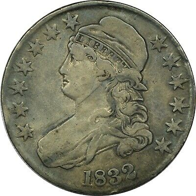1832 Capped Bust Half Dollar 50C, Very Fine VF