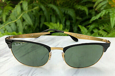 e3dc5dd1df95e Nice Ray-Ban Polarized Sunglasses Black Metal Frames   Green Lens RB3538 187  9A