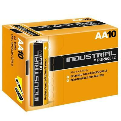 10X AA Genuine Duracell Industrial Professional Alkaline Battery 1.5V High Power