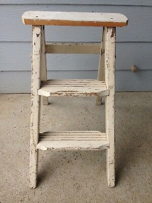 Rustic Vintage Small Wooden Ladder
