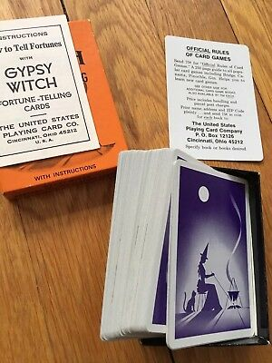 Gypsy Witch Fortune Telling Playing Cards Made In Usa Mint Condition