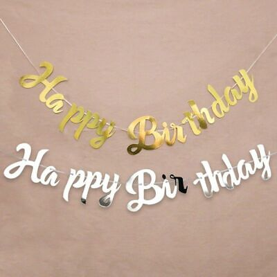 2M Happy Birthday Banner Bunting Hanging Garland Party Decoration New Trendy