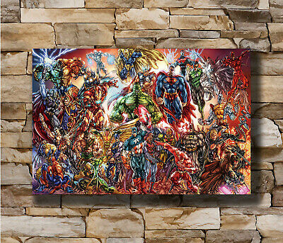 Hot Marvel And DC Characters Superheroes Hot Comic New Art Poster 24x36 T-20