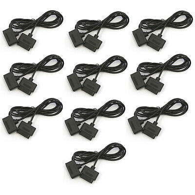 Wholesale Lot of 10 SNES 5' Controller Extension Cable Hexir New Bulk Cord