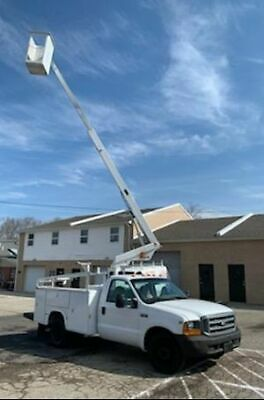 1999 Ford F-350 Utility Non-Insulated Aerial Bucket Lift Telsta A-28D 76.kMiles!