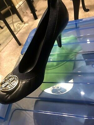 4ff21f3147 TORY BURCH CARRIE Quilted Mid Heel Black Pump Shoes 8M $250 - $80.00 ...