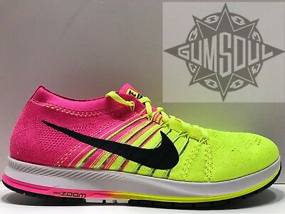 9a11d30388c NIKE FLYKNIT STREAK OLYMPIC RIO MULTI COLOR VOLT PINK 835994 999 sz 13