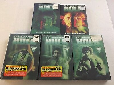 The Incredible Hulk Complete 1978 Series All Seasons 1-5 DVD Set Collection Lot