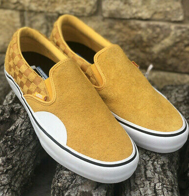 03bf183a8c6 NEW! VANS SLIP On PRO Hairy Suede Banana Suede Men s Size 13 ...
