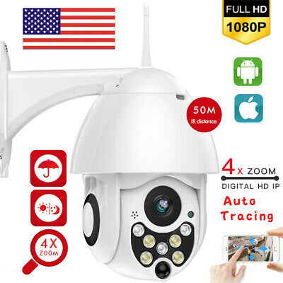 HD Outdoor 1080P PTZ Security  IP Camera 4x Zoom 50m IR Night Vision CCTV Webcam