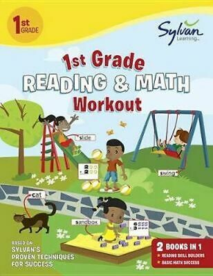 NEW First Grade Reading & Math Workout By Sylvan Learning Paperback
